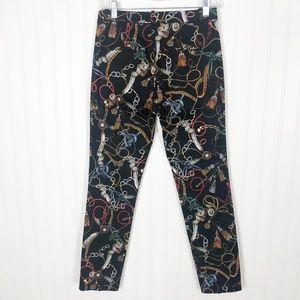 Zara Pants - Zara Chain Print Cigarette Pants